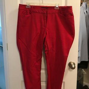 Eloquii red Kady fit pants